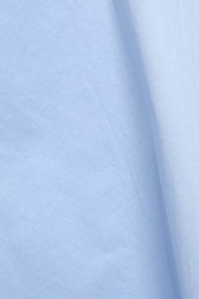 TIBI Off-the-shoulder cotton-poplin top