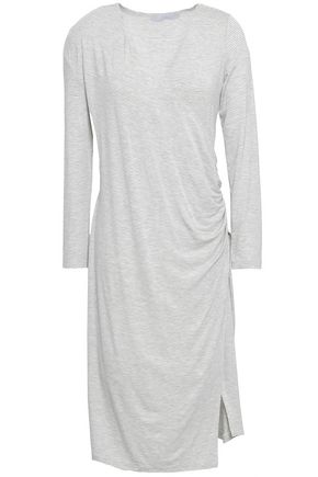 KAIN Ruched striped jersey dress