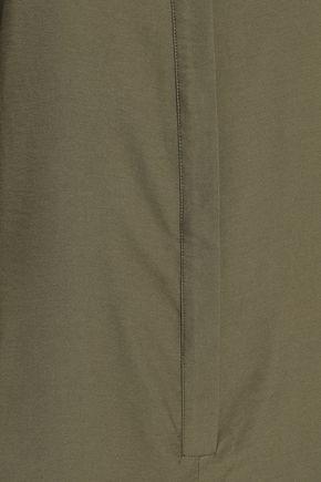 TIBI Cutout twill hooded jumpsuit