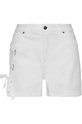 EACH X OTHER Lace-up denim shorts