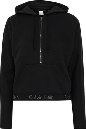 CALVIN KLEIN UNDERWEAR French cotton-blend terry hoodie