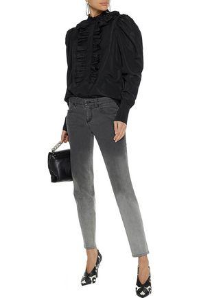 STELLA McCARTNEY Shaylee ruffle-trimmed taffeta blouse