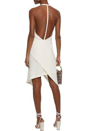 IRO Ekioti wrap-effect open-back crepe dress
