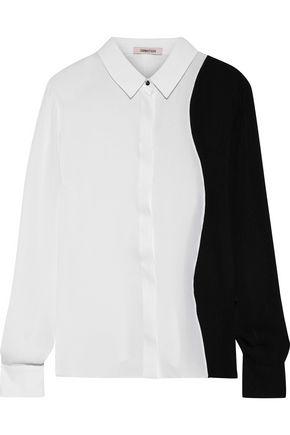 CUSHNIE Two-tone silk shirt