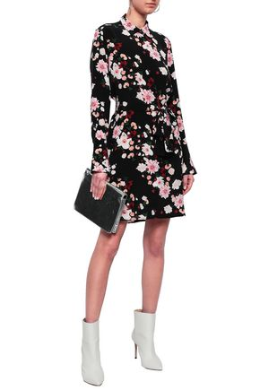 EQUIPMENT Clea floral-print washed-silk mini shirt dress