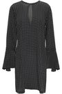 EQUIPMENT Mari polka-dot washed-silk mini dress