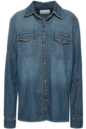 CURRENT/ELLIOTT The Effortless faded denim shirt