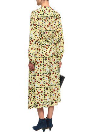 EQUIPMENT Floral-print silk crepe de chine midi dress