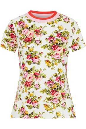 ZIMMERMANN Radiate floral-print linen and cotton-blend T-shirt