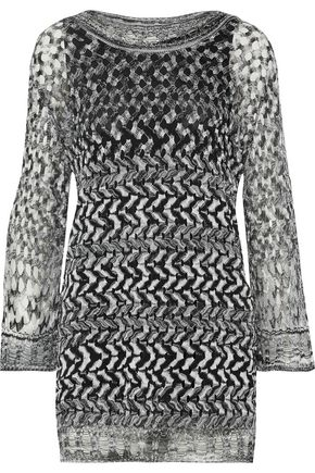 MISSONI Printed open-knit sweater