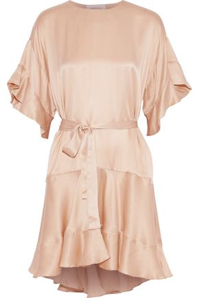 ZIMMERMANN Fluted silk-satin mini dress