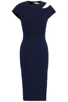 VICTORIA BECKHAM Cutout silk and wool-blend dress