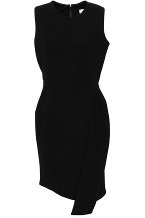 VICTORIA BECKHAM Draped wool-blend crepe mini dress