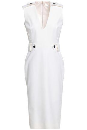 VICTORIA BECKHAM Button-detailed stretch-cotton dress