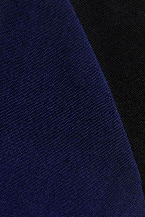 VICTORIA BECKHAM Two-tone silk and wool-blend dress