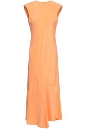 TIBI Open-back silk crepe de chine midi dress