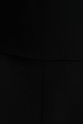 CUSHNIE Stretch-cady peplum top