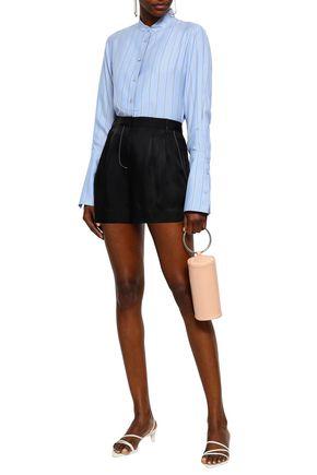 TIBI Pleated twill shorts