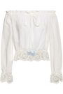 REBECCA MINKOFF Anthea off-the-shoulder broderie anglaise cotton top