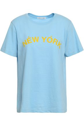 REBECCA MINKOFF Delaney printed cotton-jersey T-shirt