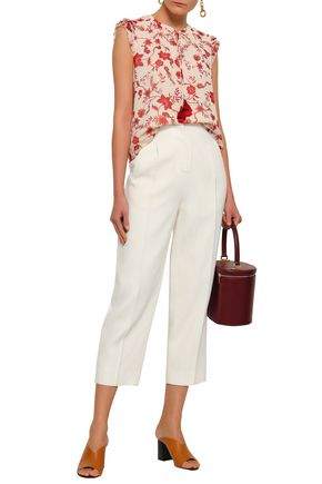 REBECCA MINKOFF Floral-print georgette blouse