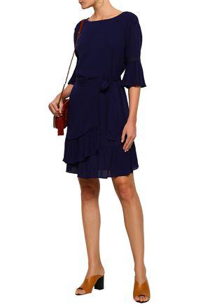 REBECCA MINKOFF Wendy wrap-effect georgette dress