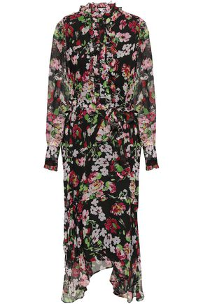EQUIPMENT Palo ruffle-trimmed floral-print silk-chiffon midi dress