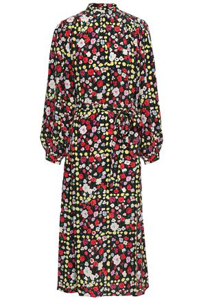 EQUIPMENT Floral-print silk crepe de chine midi dress 7087e4d41