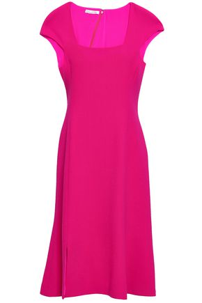OSCAR DE LA RENTA Fluted wool-crepe dress