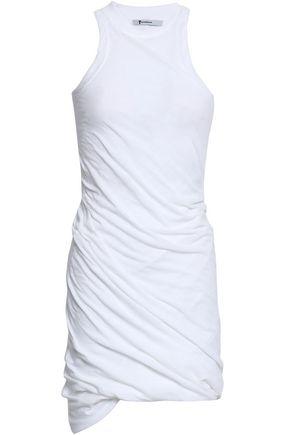 ALEXANDERWANG.T Ruched cotton-jersey mini dress