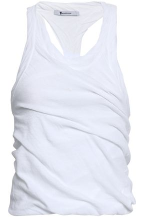 ALEXANDERWANG.T Ruched cotton-jersey tank