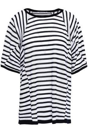 Striped merino wool-blend T-shirt | ALEXANDERWANG T | Sale