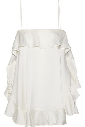 ZIMMERMANN Ruffled silk-satin camisole