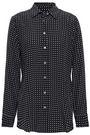 EQUIPMENT Essential polka-dot washed-silk shirt