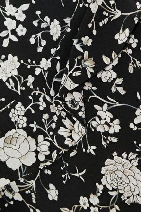 ZIMMERMANN Ruffle-trimmed floral-print silk blouse