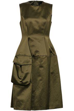 SIMONE ROCHA Flared cotton-blend satin dress
