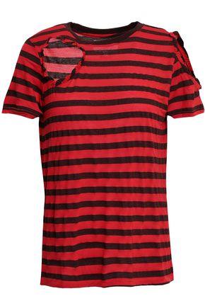 CURRENT/ELLIOTT The Brittan Tee distressed modal-blend jersey T-shirt