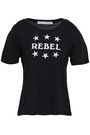REBECCA MINKOFF Ava printed cotton and modal-blend T-shirt