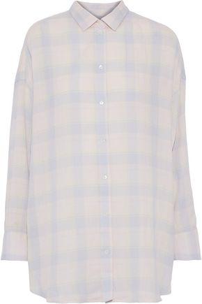 2e4867d1ffe69 IRO Camar checked cotton, linen and ramie-blend flannel shirt