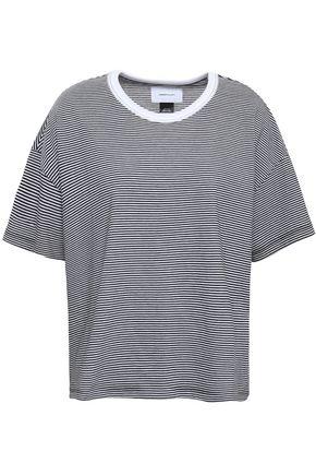 CURRENT/ELLIOTT Striped cotton-blend jersey T-shirt