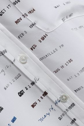 EQUIPMENT Signature printed washed-silk  shirt