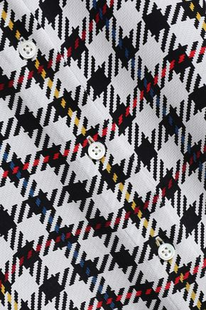 EQUIPMENT Checked silk crepe de chine shirt