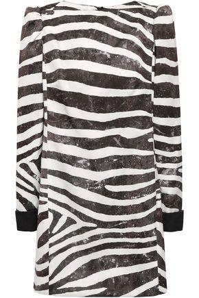 MARC JACOBS Zebra-print satin mini dress