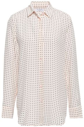 EQUIPMENT Essential polka-dot washed-silk shirt