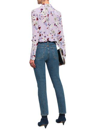 EQUIPMENT Floral-print silk crepe de chine shirt