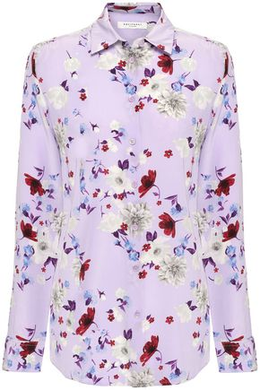 EQUIPMENT Floral-print silk crepe de chine shirt