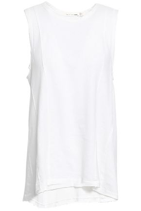 RAG & BONE Dahlia linen and cotton-blend tank
