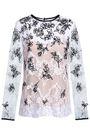 OSCAR DE LA RENTA Embroidered cotton-blend lace top