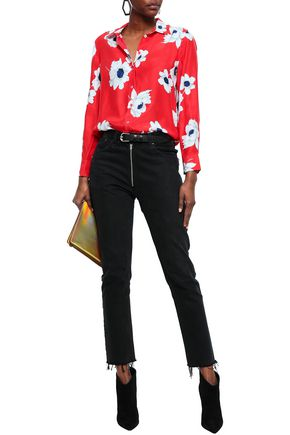 EQUIPMENT Leema floral-print silk shirt