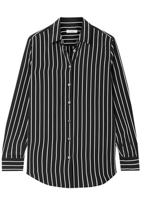 EQUIPMENT Essential striped silk crepe de chine shirt